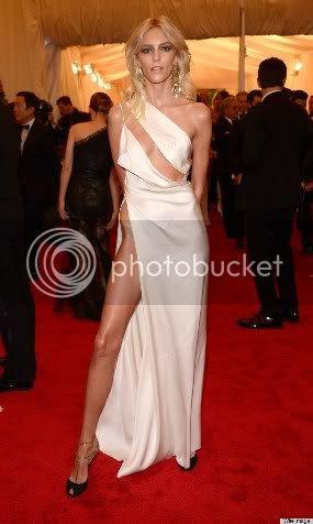 Anja Rubik Met Gala Leg and Hipbone Fashion Style