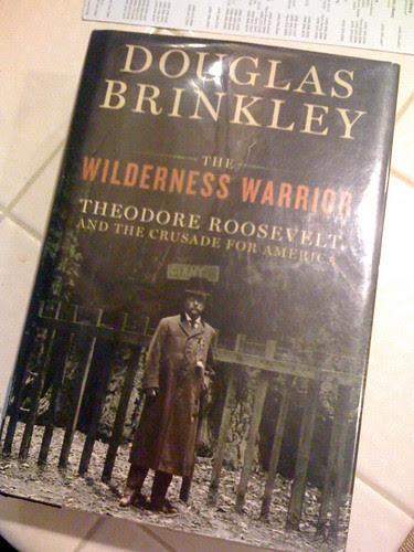 8:36pm Reading Douglas Brinkley's The Wilderness Warrior.