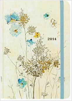 2014 Watercolor Flowers 16 Month Weekly Planner Compact