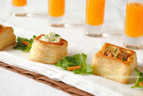 Vol au Vent con  crema al Formaggio e Sedano-Cream Cheese and Celery Vol au Vents