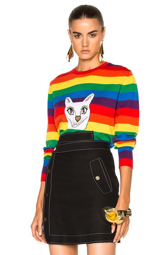 Khắp các thương hiệu thời trang, từ bình dân đến cao cấp đều đang lăng xê kiểu áo len màu sắc này - Ảnh 11.