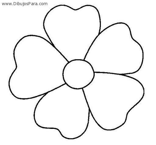 Dibujo De Flor De Cinco Petalos Dibujos Para Colorear