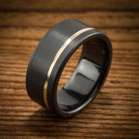 What is a Black Zirconium Wedding Ring?   Men's Wedding