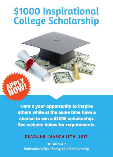 $1000 Inspirational College Scholarship ...