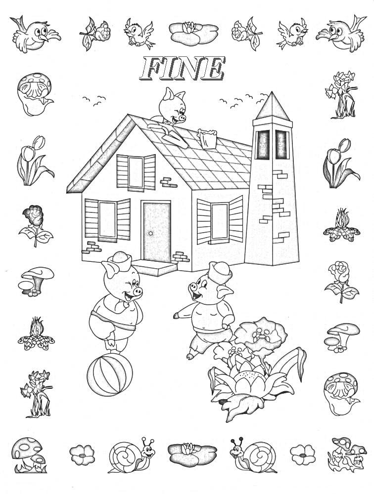 Colora Fiaba Tre Porcellini 4 Disegni Per Bambini Da Colorare