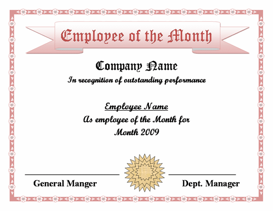 Employee Of The Month Certificate Template Word from lh4.googleusercontent.com