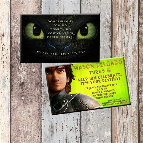 Toothless Dragon Personalized Birthday Invitation 2 Sided