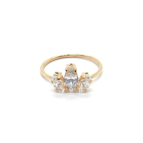 Marquise Sun Ring with Cubic Zirconia   gifts for me