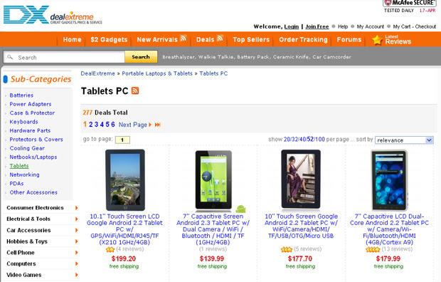 No site Deal Extreme o usuário compra produtos chineses importados com frete grátis (Foto: Reprodução/TechTudo)