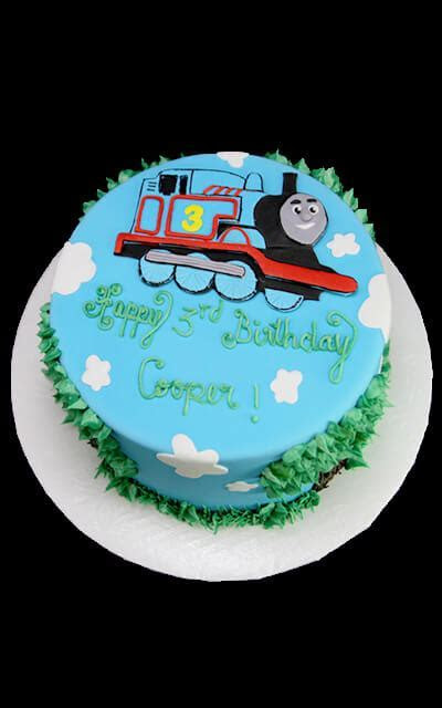 2D Thomas the Train Birthday Cake   Butterfly Bake Shop in