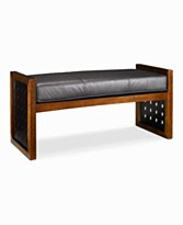 Wooden Benches with Upholstered Cushions from Macys ...
