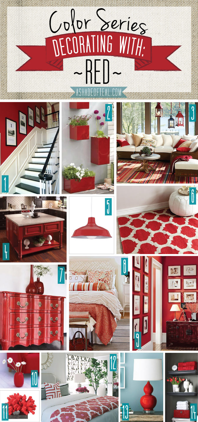 Color Series; Decorating with Red