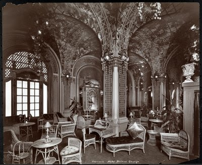 Fine Art Print of The Tea Room at the Hotel Prince George, 1907 by Byron Company