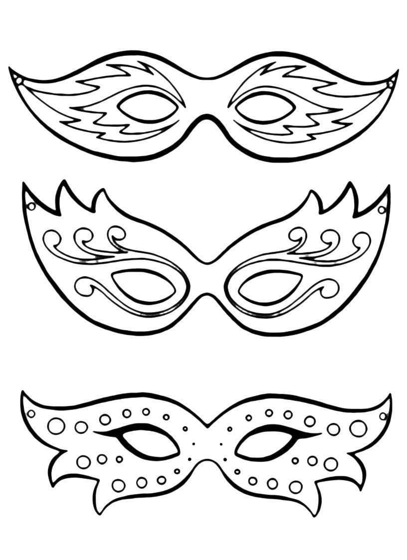 Unico Disegno Da Colorare Della Maschera Di Carnevale Ondina