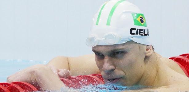Cielo apór terminar a prova dos 50 metros na terceira colocação nos Jogos Olímpicos de Londres