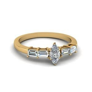 1 Carat Diamond Channel Set Baguette Engagement Ring In