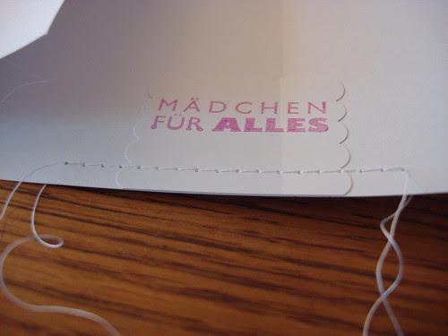 Dankeskarten LeLo 40 – Mädchen für alles