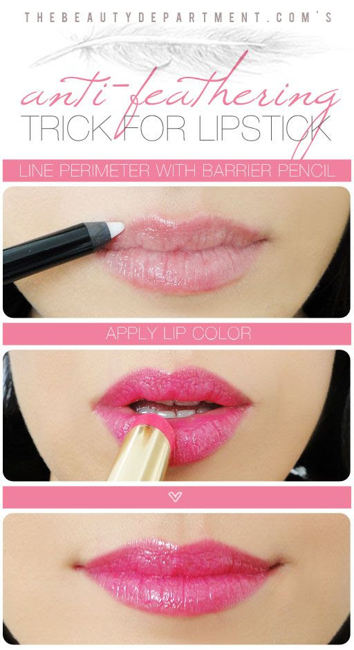 20 Helpful Makeup Tutorials, INTERESTING TRICK FOR YOUR LIPS
