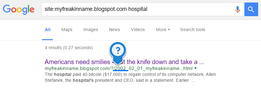 google search results crap out