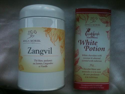 Zangvil tea + White Potion chocolate bar