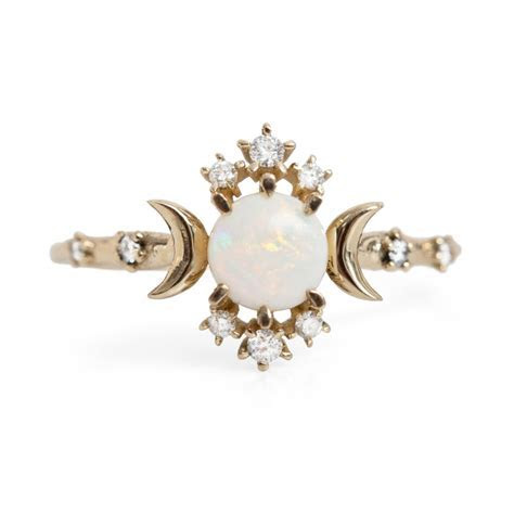 Wandering Star Ring, Opal   Catbird