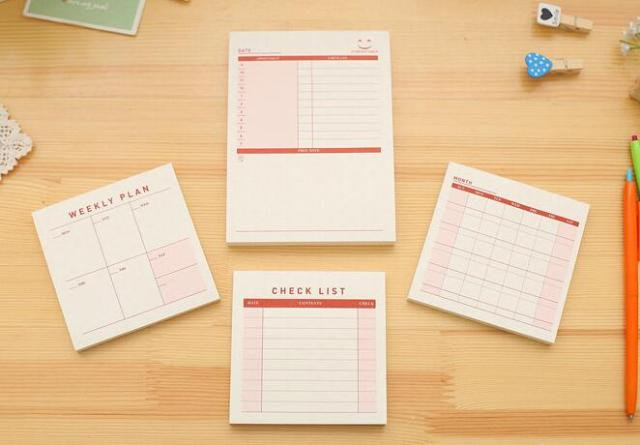 Aliexpress.com : Buy 1Pcs Daily Weekly Monthly Desk Diary Planner ...