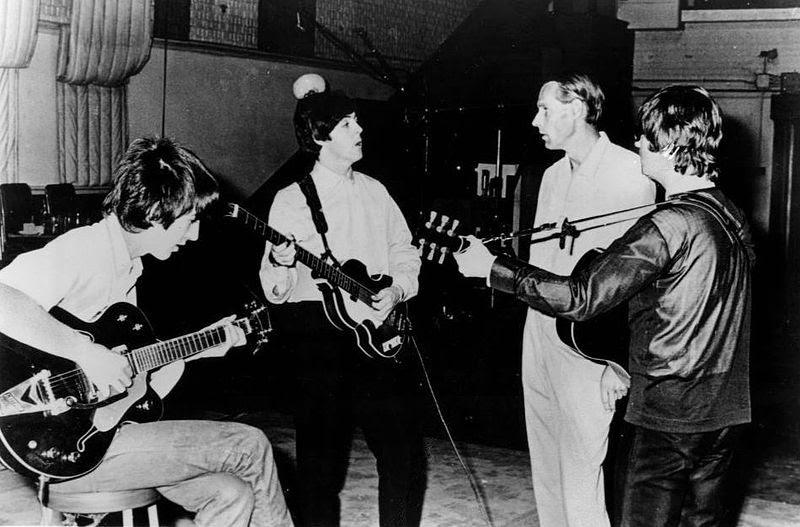 File:Beatles and George Martin in studio 1966.JPG