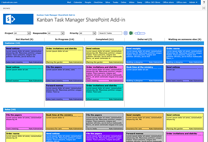 The Kanban Task Manager Add-in in SharePoint