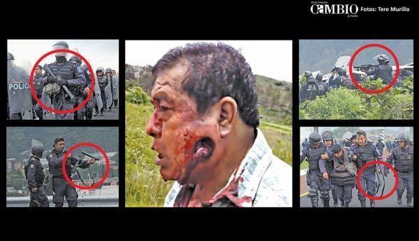 Evidencias: SÍ dispararon  BALAS DE GOMA