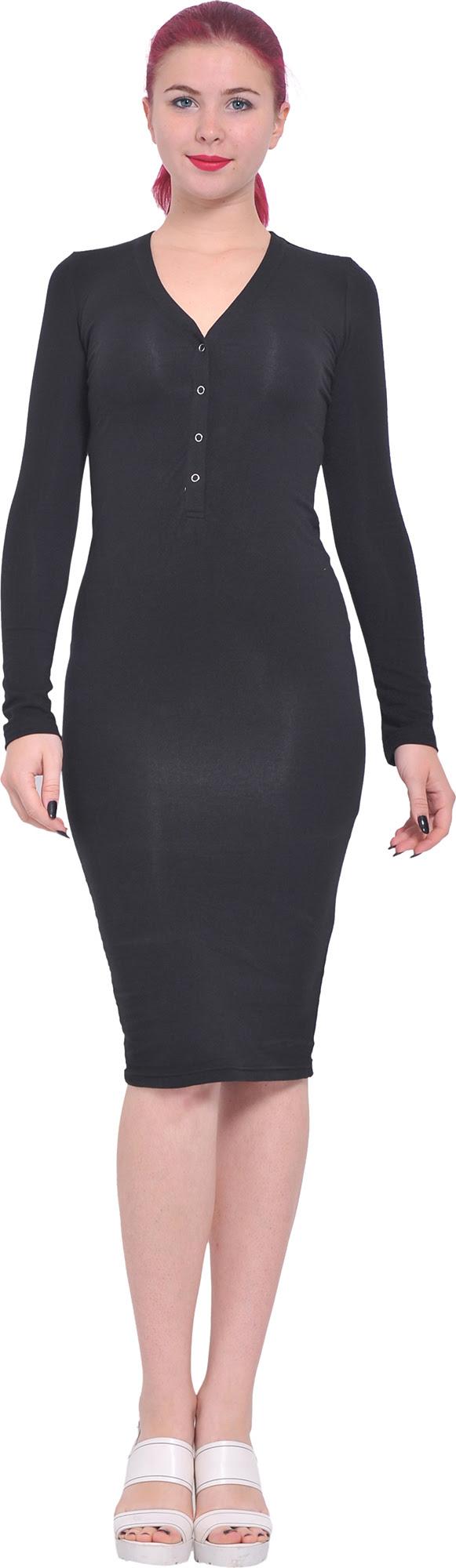 Street auckland knee dress long length sleeve bodycon