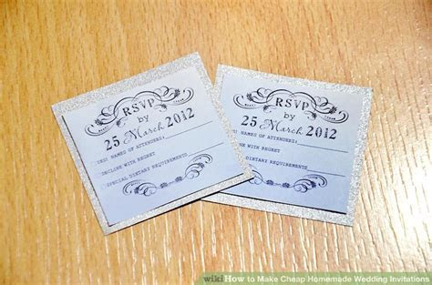 3 Ways to Make Cheap Homemade Wedding Invitations   wikiHow