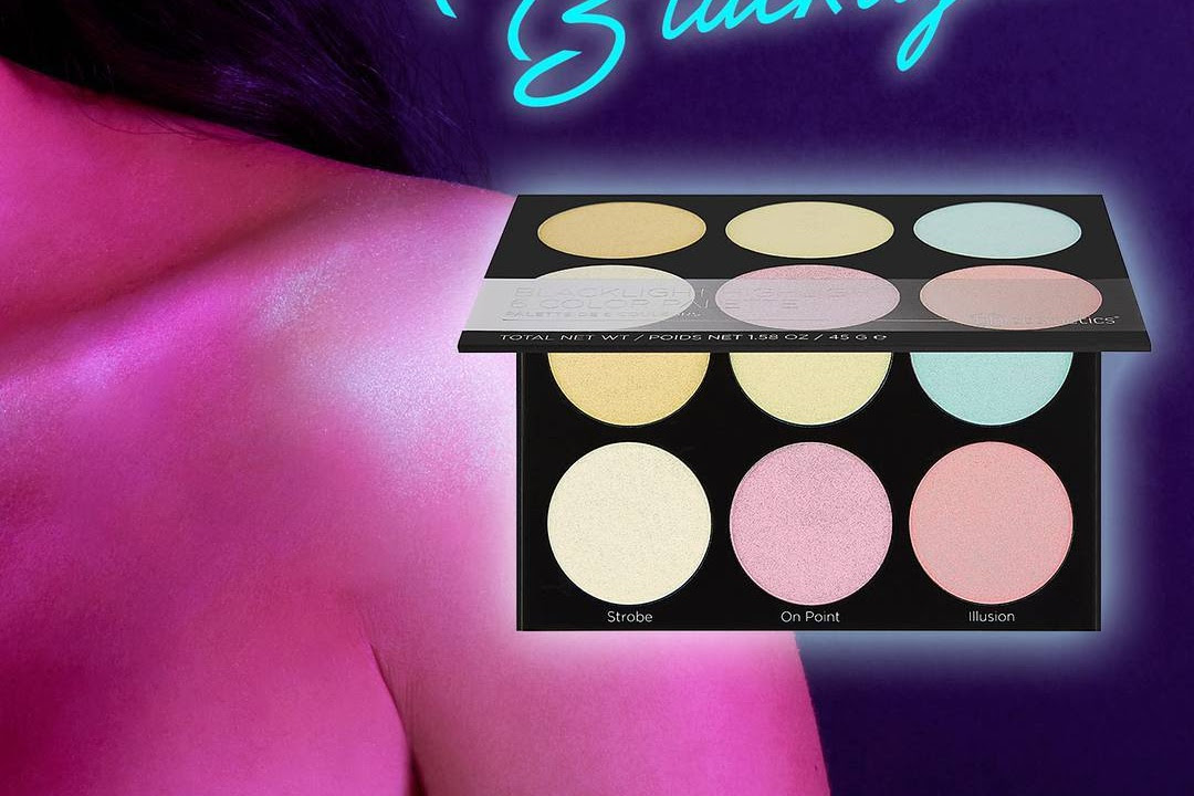 BH Cosmetics Blacklight Highlight Palette Swatches