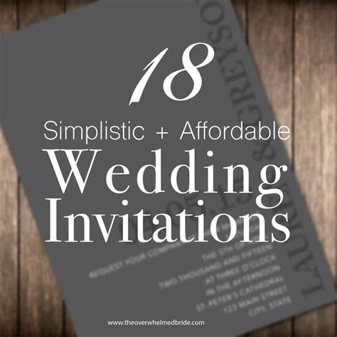 1000  ideas about Inexpensive Wedding Invitations on