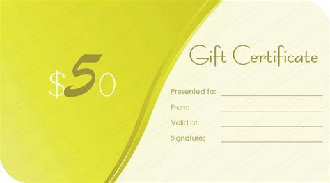 Grow Green Gift Certificate Template