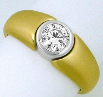 Foto 1, Neu! Traum-Design Brillant-Solitär-Ring Luxus Portofrei, S7583