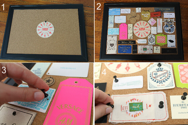 How to make a clothing-tag specimen board