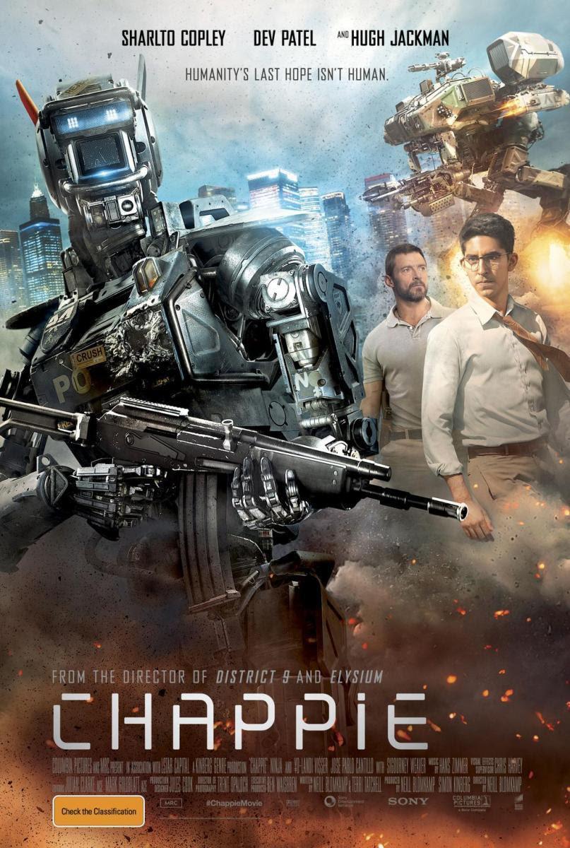 chappie, película, blog de cine, solo yo, distopia, robot, futuro, inteligencia artifical,