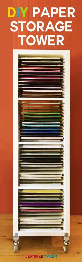 paper storage diy vertical organizer  scrapbook