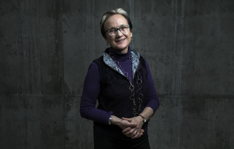 Katherine Watson, directora de la European Cultural Foundation, en el Espacio Cultural Daíz y Velarde en Madrid.