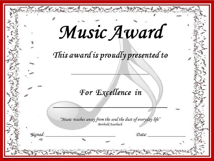 1000+ ideas about Award Certificates on Pinterest   Printable ...