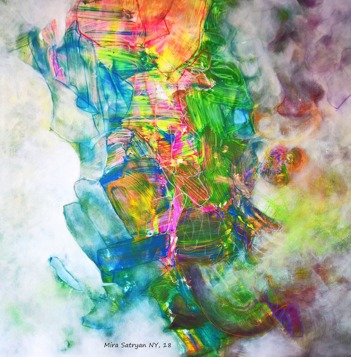 You Can Not Grasp It By Mira Satryan Mixed Media On Canvas