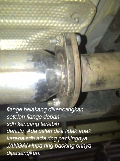 Mengganti Front Pipe Knalpot Toyota Fortuner dan melepas catalyst Mengganti Front Pipe Knalpot Toyota Fortuner dan melepas catalyst