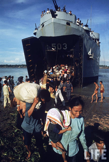 South Vietnam - Vietnamese refugees arriving from Cambodia 1970