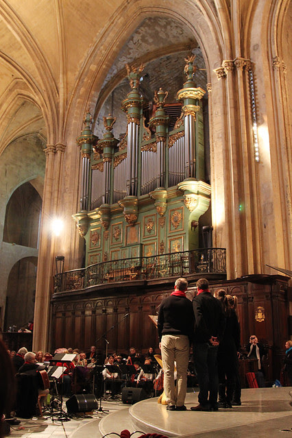 Christmas carols in the St Sauveur Cathedral in Aix-en-Provence