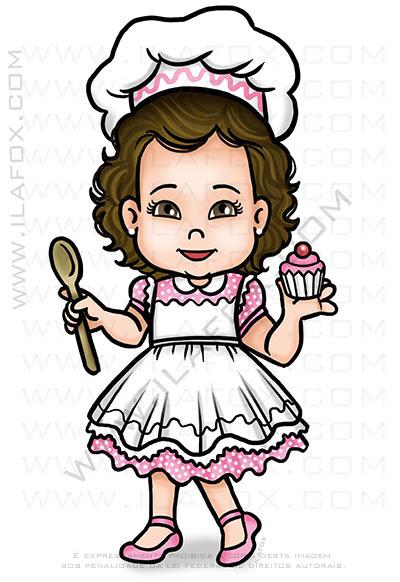 caricatura infantil, caricatura personalizada, caricatura bonita, caricatura para criança, caricatura doceira, by ila fox