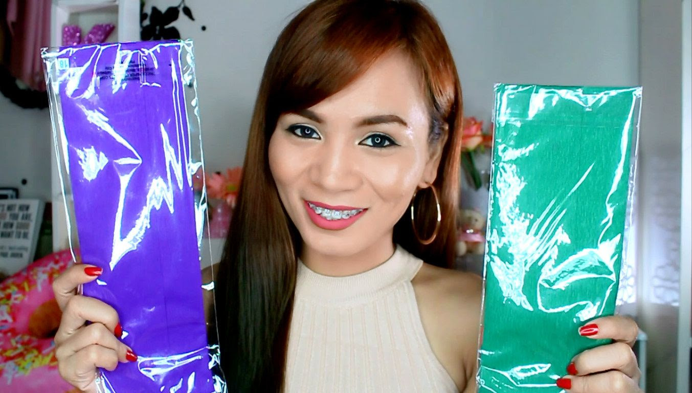 Diy Ombre Hair Color Using Crepe Paper Beauty And Fashion