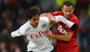 Ruíz enfrentó al Manchester United el sábado pasado. Foto tomada: bryanruiz.com