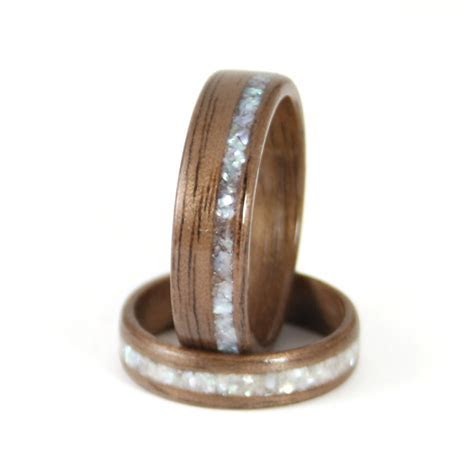 Walnut Wooden Wedding Rings   Harestree