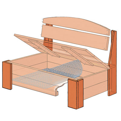 Build the Legs | How to Build a Bench With Hidden Storage | This