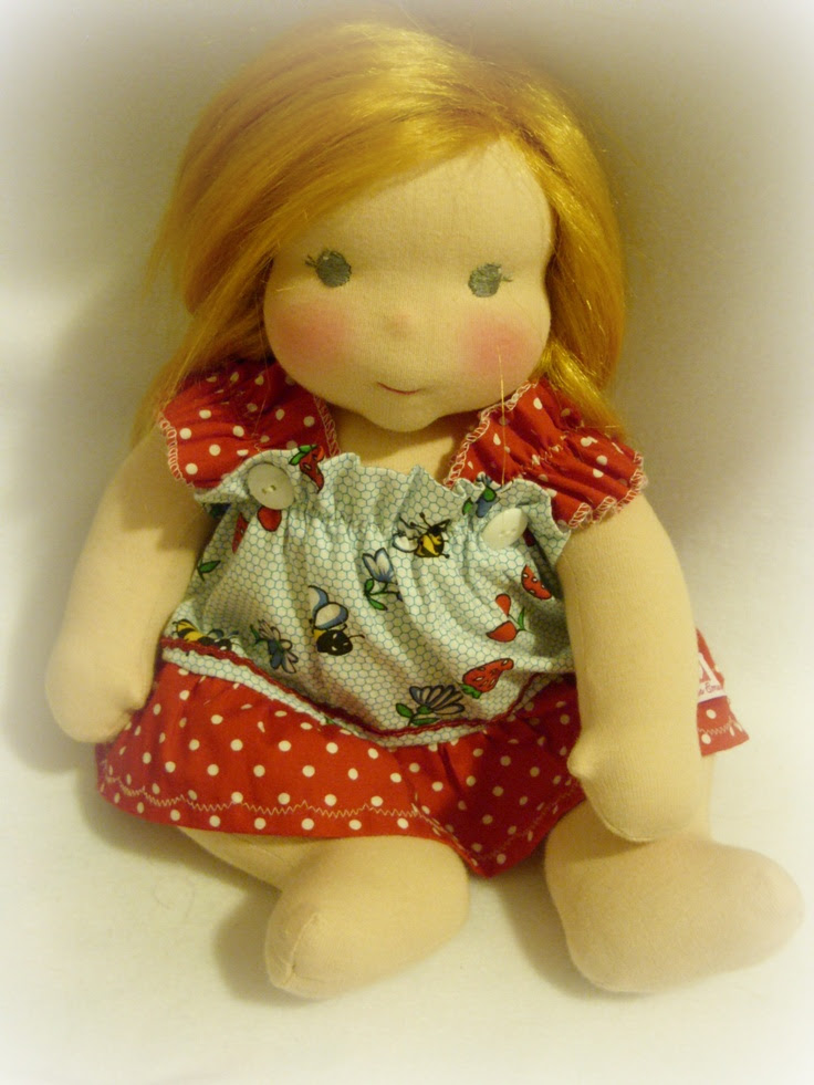 Adrienne a jointed waldorf baby doll Lali